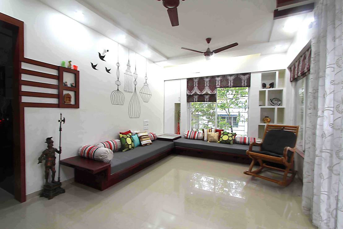 Top 5 small indian homes apartment designs grille and for Interior design for living room chennai