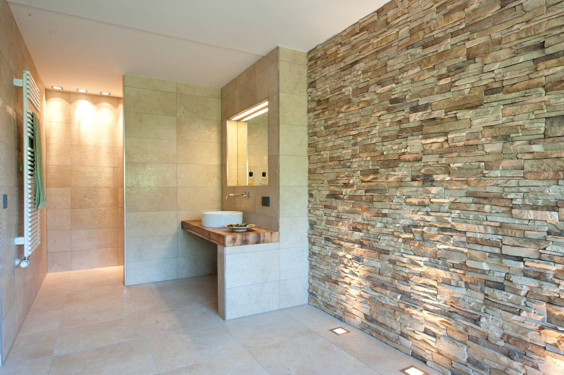 13 wall finishes that 39 ll give your bathroom zing for Bathroom finishes