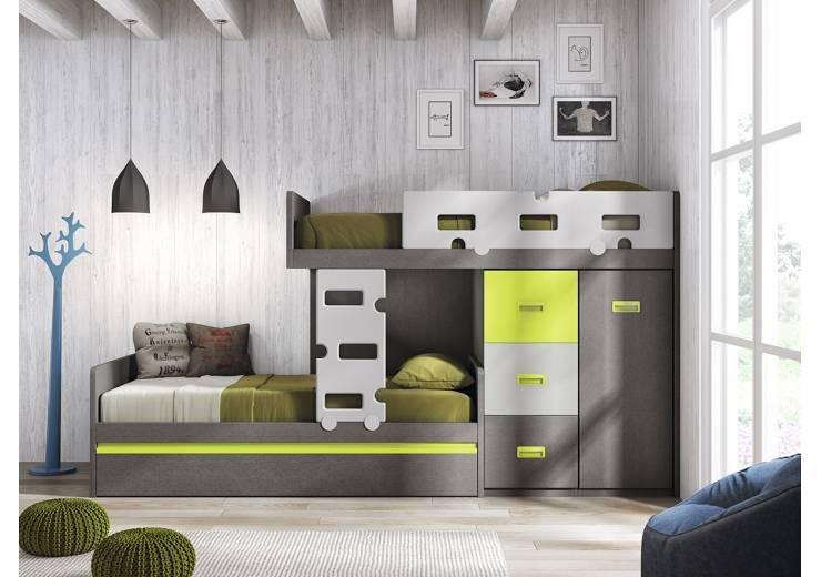 Rec maras infantiles 10 literas sensacionales - Habitaciones juveniles espacios pequenos ...