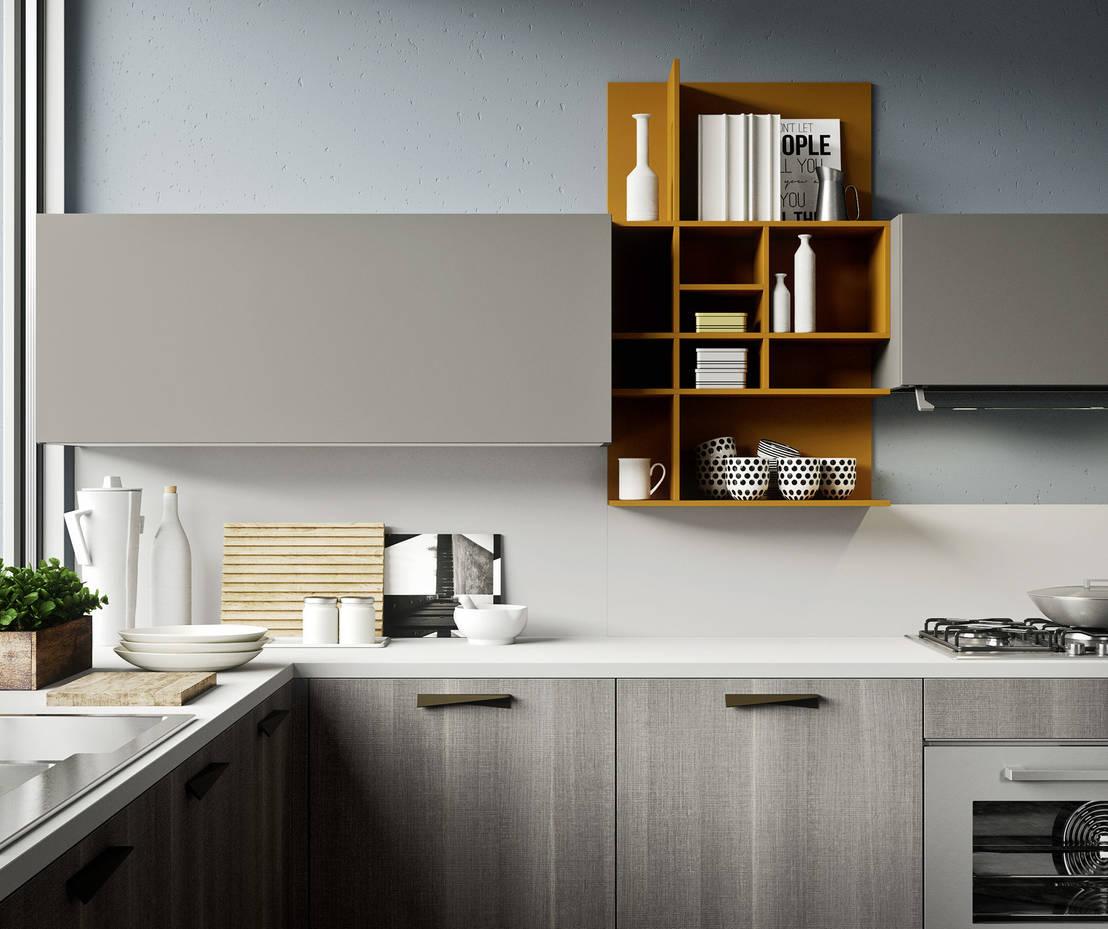A ogni cucina le sue mensole 10 idee per scegliere for Idee cucine piccole