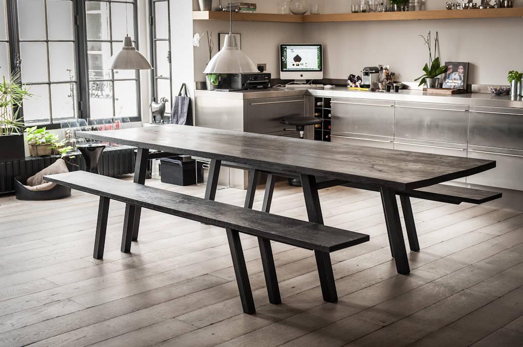 lavishly large dining tables. Black Bedroom Furniture Sets. Home Design Ideas