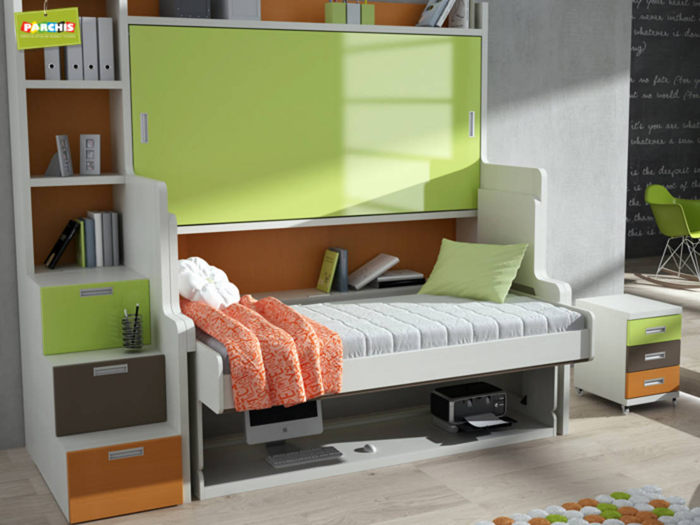 Literas abatibles autoportantes muebles plegables para for Muebles zapateros juveniles