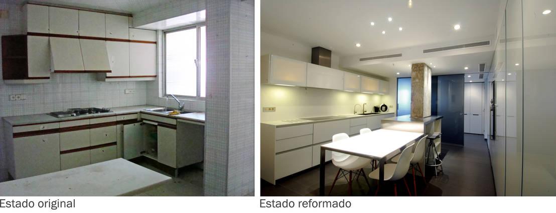 Antes y despu s 2 reformas en la cocina para ganar espacio for Cocinas antes y despues