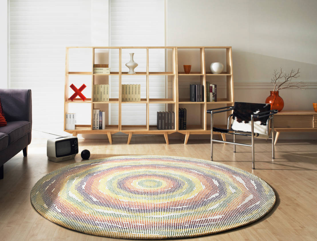 Alfombras redondas un toque original para cada habitaci n - Alfombras redondas ...