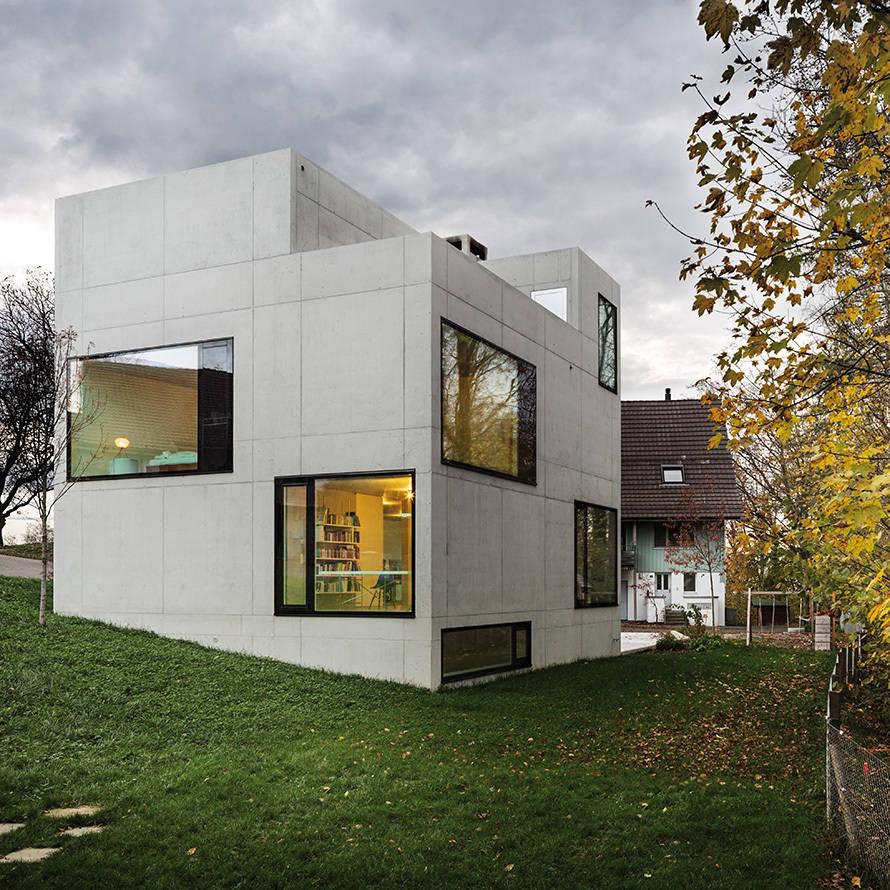 Homify 360°: Modernes Sichtbetonhaus In Der Schweiz