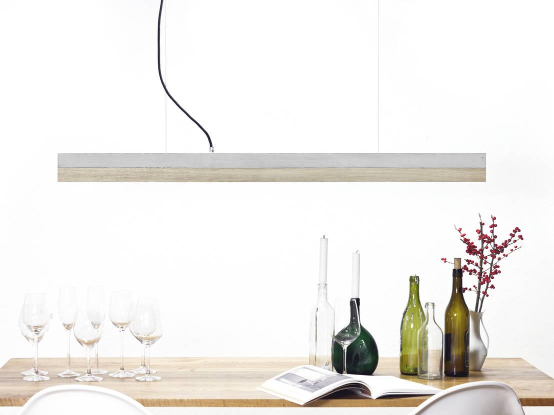 C1 oak pendelleuchte beton eiche minimalistisch von for Minimalistisch werden
