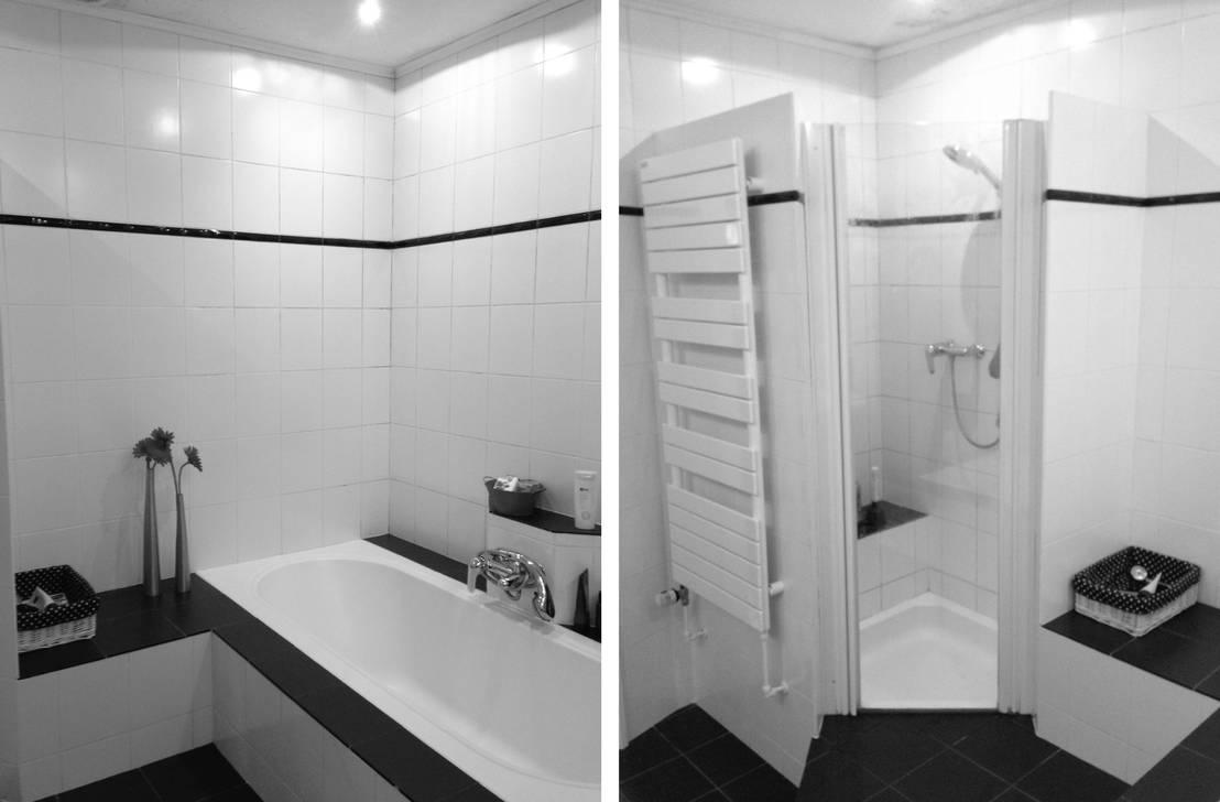Voor na van oude doucheruimte naar moderne badkamer for Moderne doucheruimte