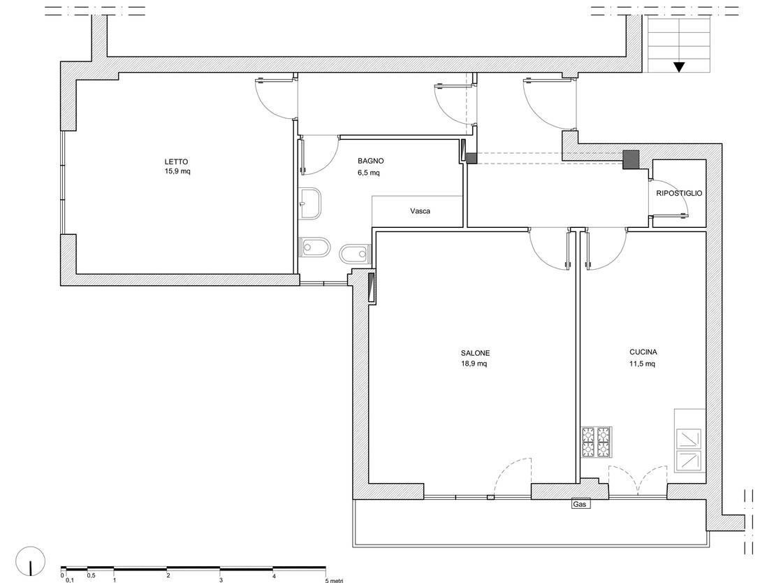 Un progetto di ristrutturazione sensazionale in soli 66 mq - Planimetria casa ...