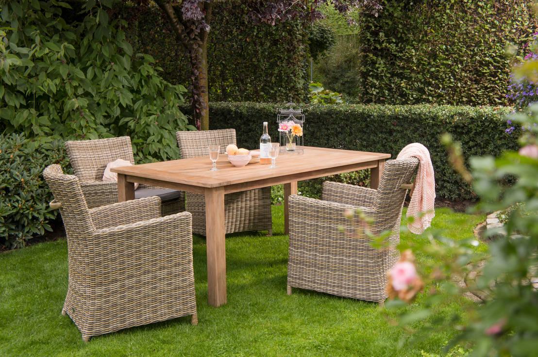 Salon De Jardin En Teck 10 Ind Modables