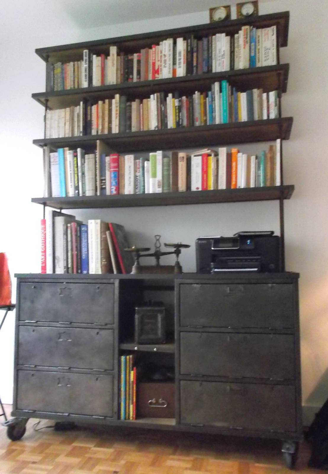 biblioth que industrielle de homify. Black Bedroom Furniture Sets. Home Design Ideas