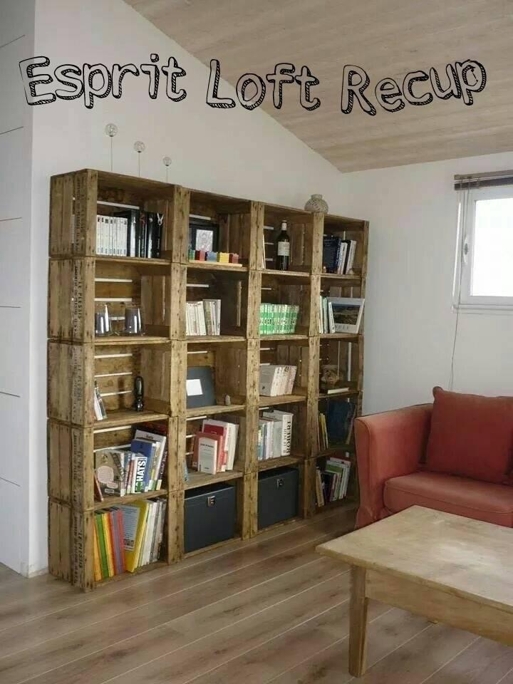 bibliotheques caisse a pomme de esprit loft recup homify