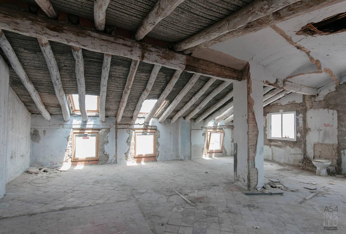 Da soffitta abbandonata a splendido appartamento rustico e ...