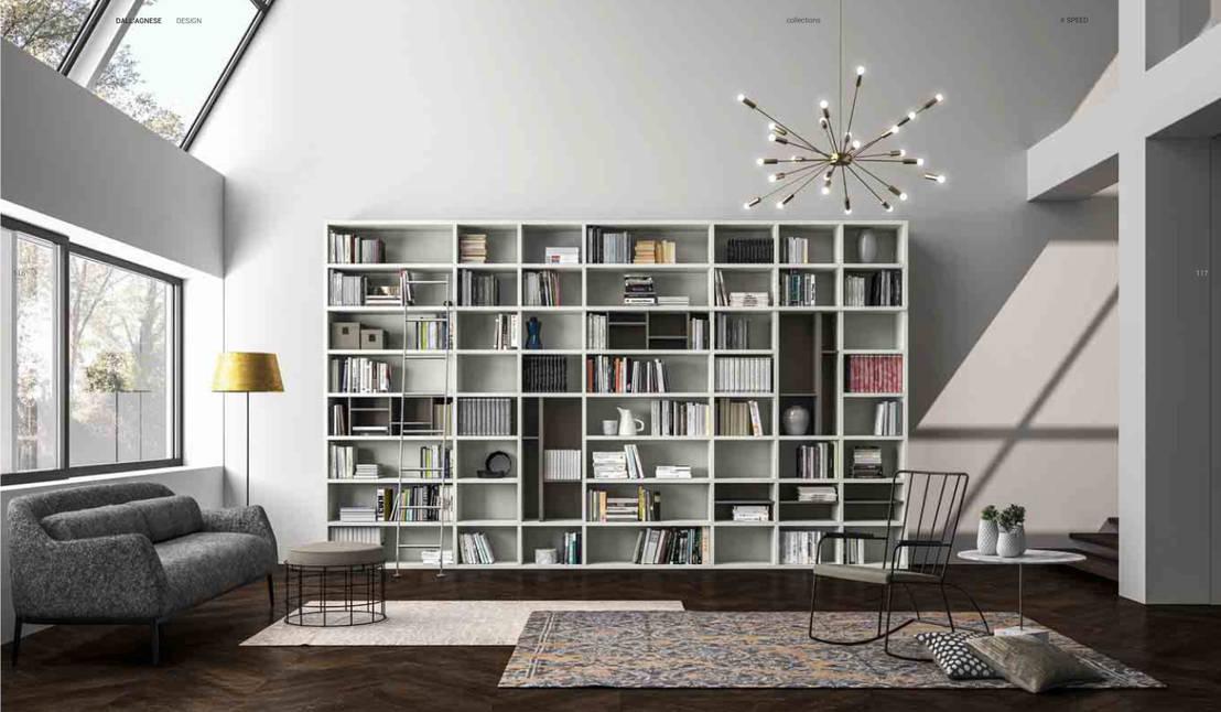 5 tipologie di libreria a muro for Libreria salotto