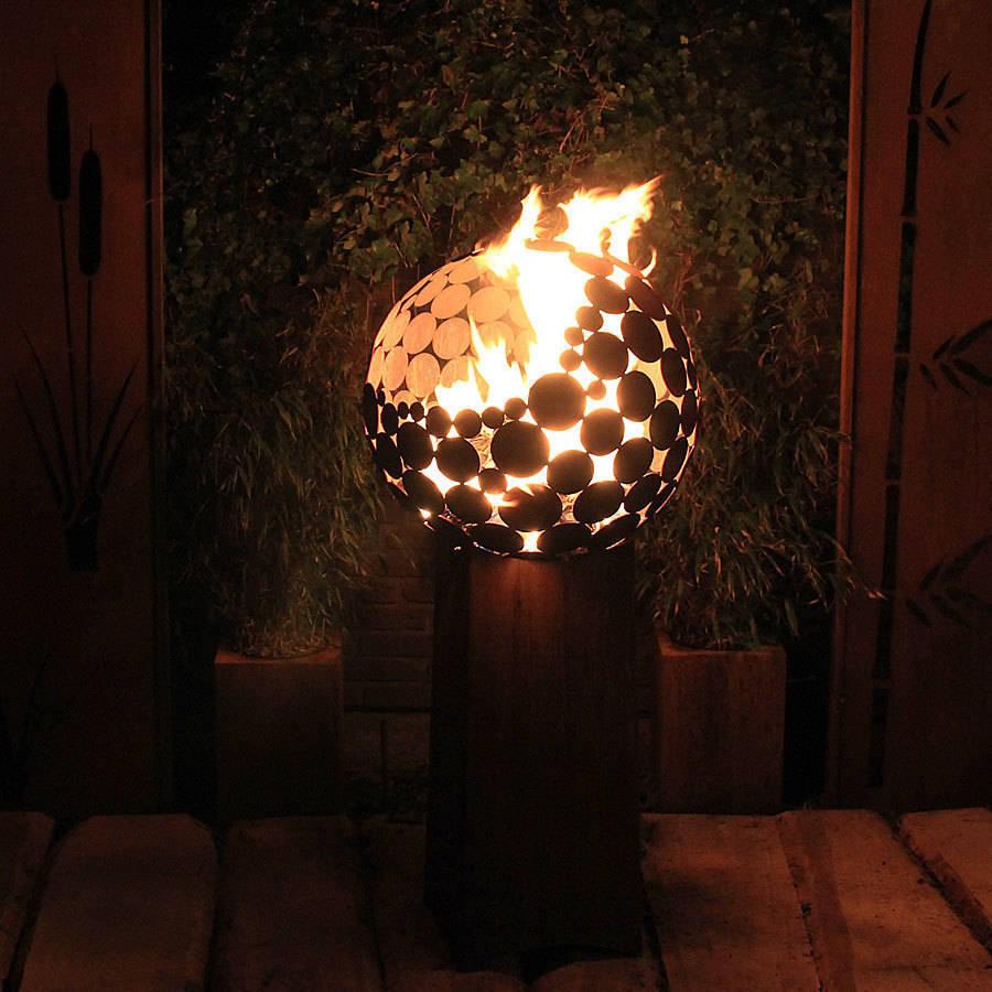 Coole feuerstellen - Feuerkugel garten ...