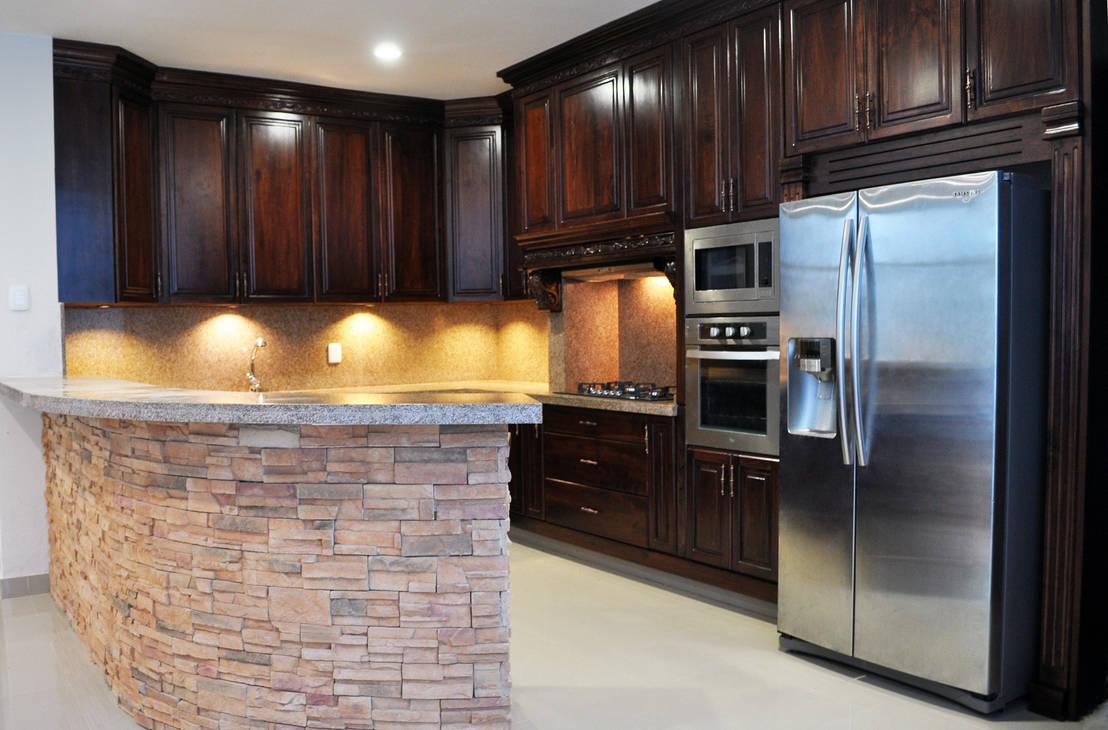 7 cocinas integrales de madera de lo cl sico a lo moderno for Lo mas moderno en cocinas integrales