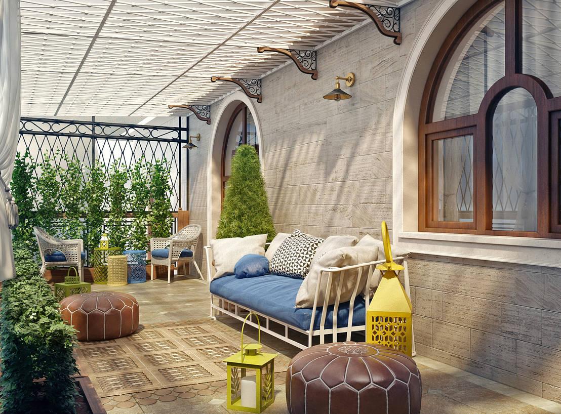 Летняя терраса в частном доме автор - sweet home design homi.