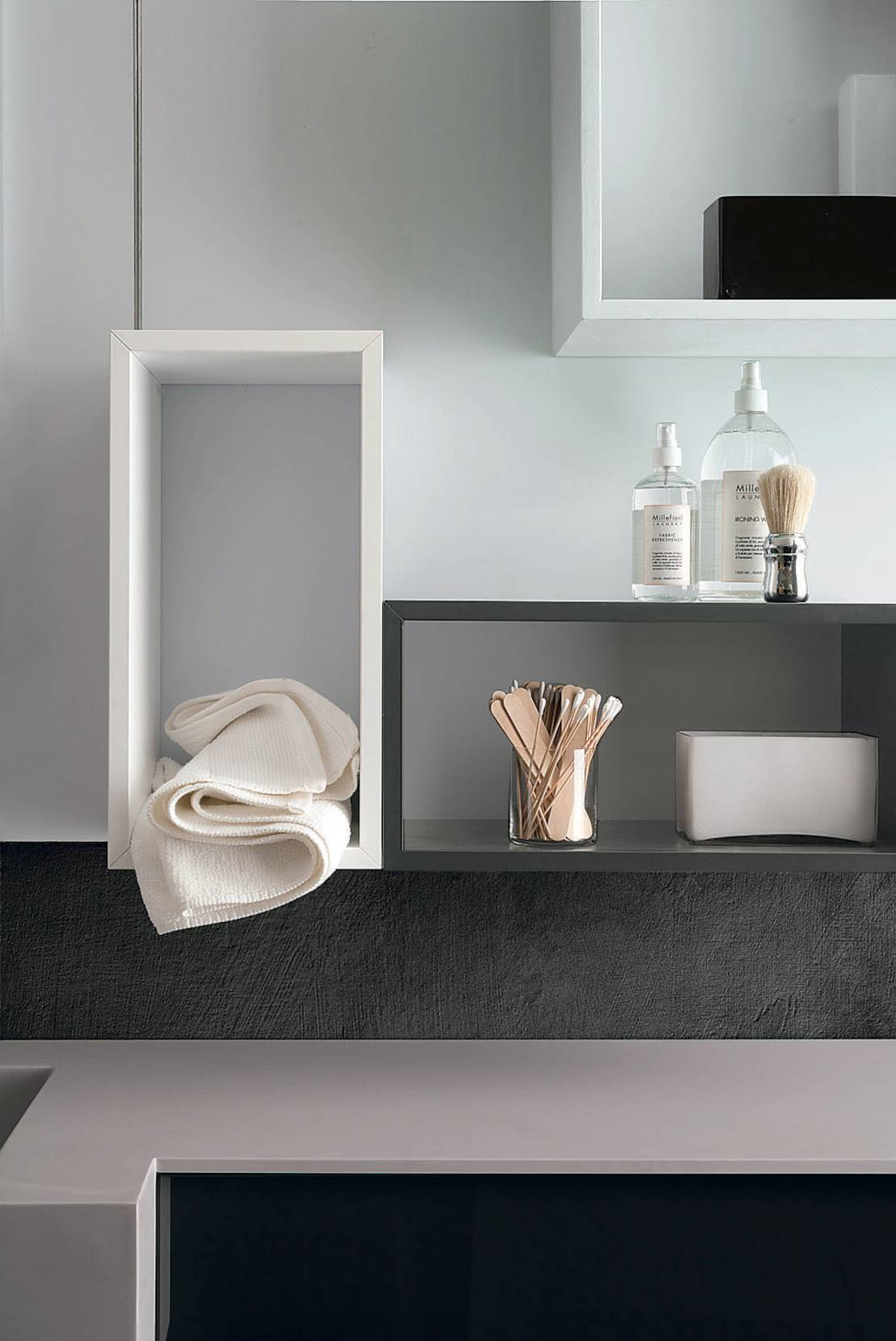 Le mensole moderne per decorare pareti e stanze for Mensole bagno design