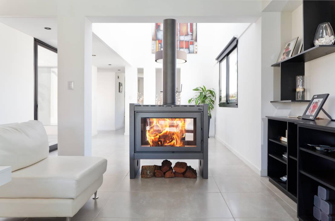 10 chimeneas modernas el calor inigualable del hogar - Cocinar en la chimenea ...