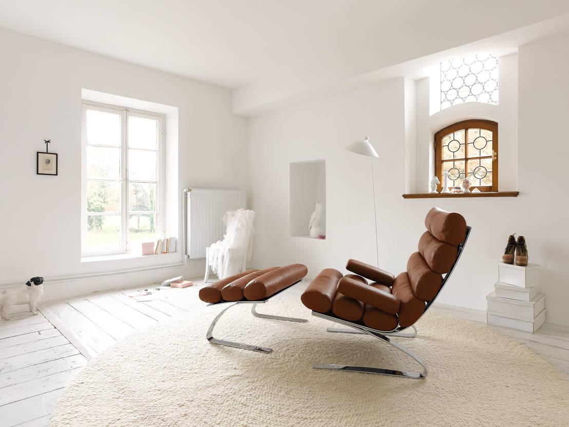 Salas modernas 10 sillones reclinables c modos y fabulosos for Sillones para salas pequenas