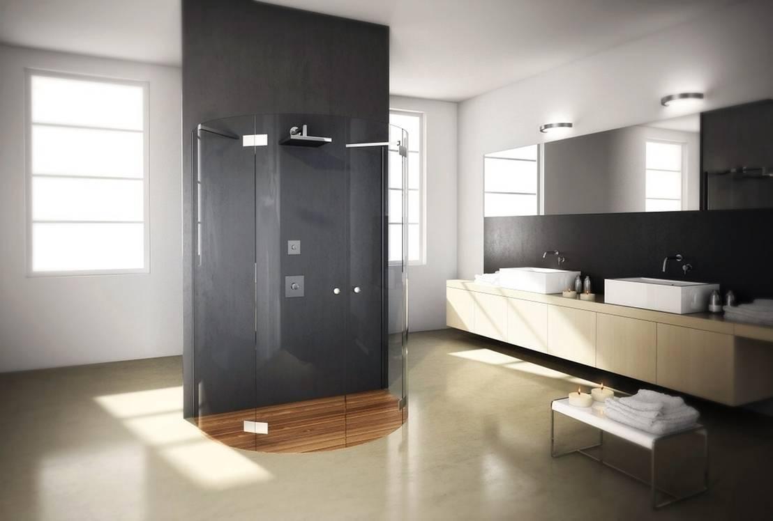 7 soluzioni per schermare la doccia con stile - Porte in vetro per bagno ...