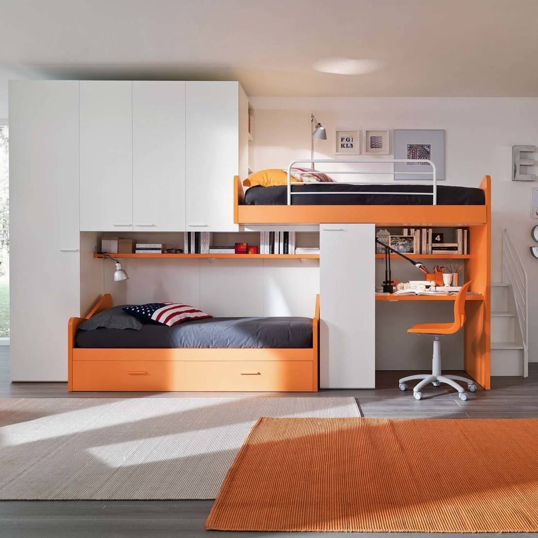 Orange Kids Room: How To Create The Perfect Child's Study Area