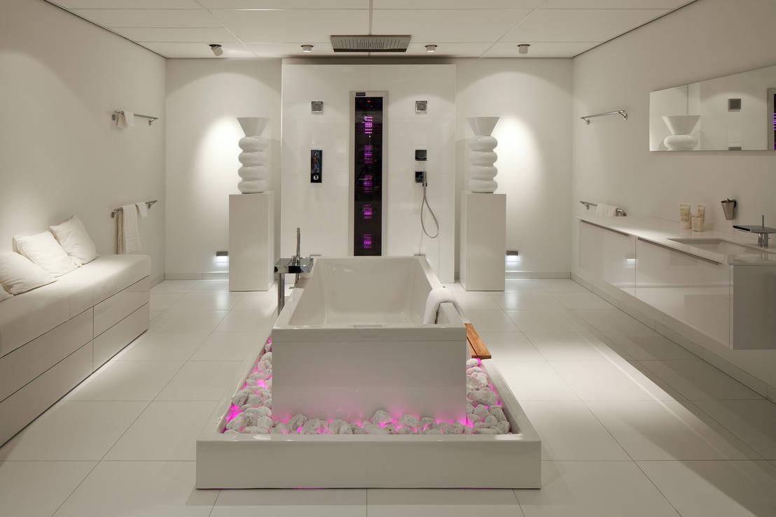 Cuartos de ba o modernos para espacios grandes o peque os for Banos modernos pequenos