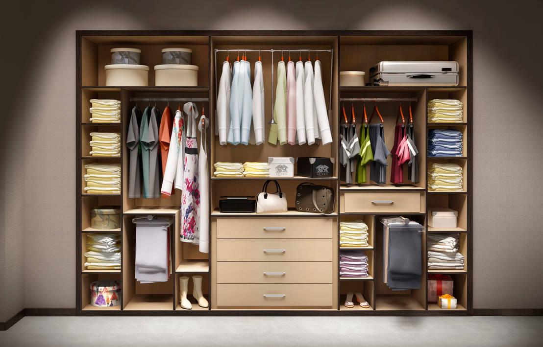 Armarios roperos y vestidores fabulosos for Distribucion de armarios empotrados por dentro