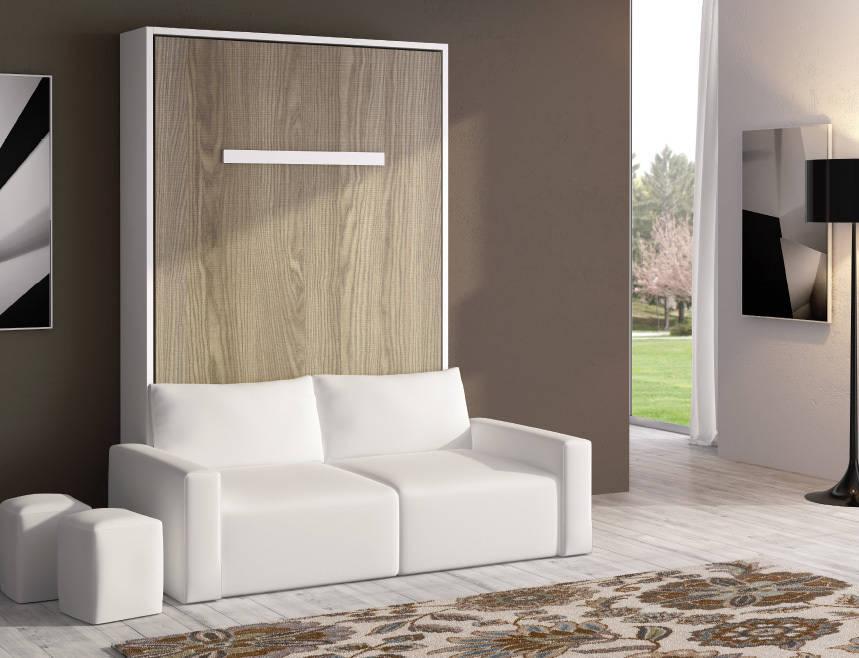 Cama abatible de matrimonio con sof incorporado de avant for Sofa cama para habitacion juvenil