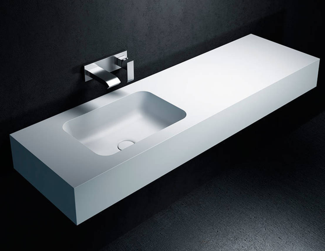 lavabo de corian toronto con encimera a medida by ba os de autor homify. Black Bedroom Furniture Sets. Home Design Ideas