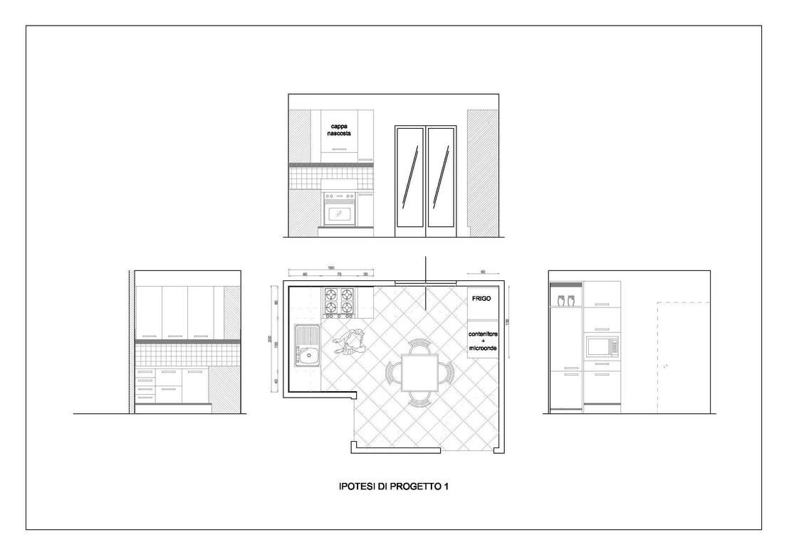 Progetto di arredo per una cucina di gaia brunello photo - Progetto di una cucina ...