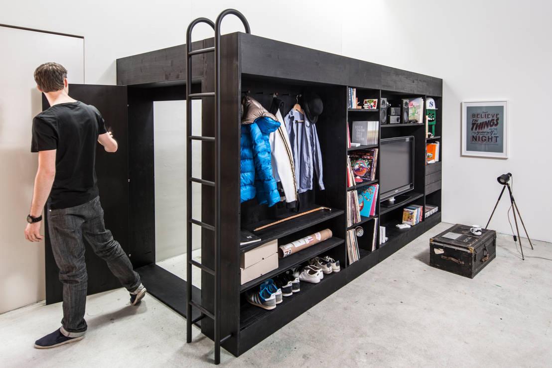 13 geniale kleiderschrank ideen f r kleine r ume. Black Bedroom Furniture Sets. Home Design Ideas