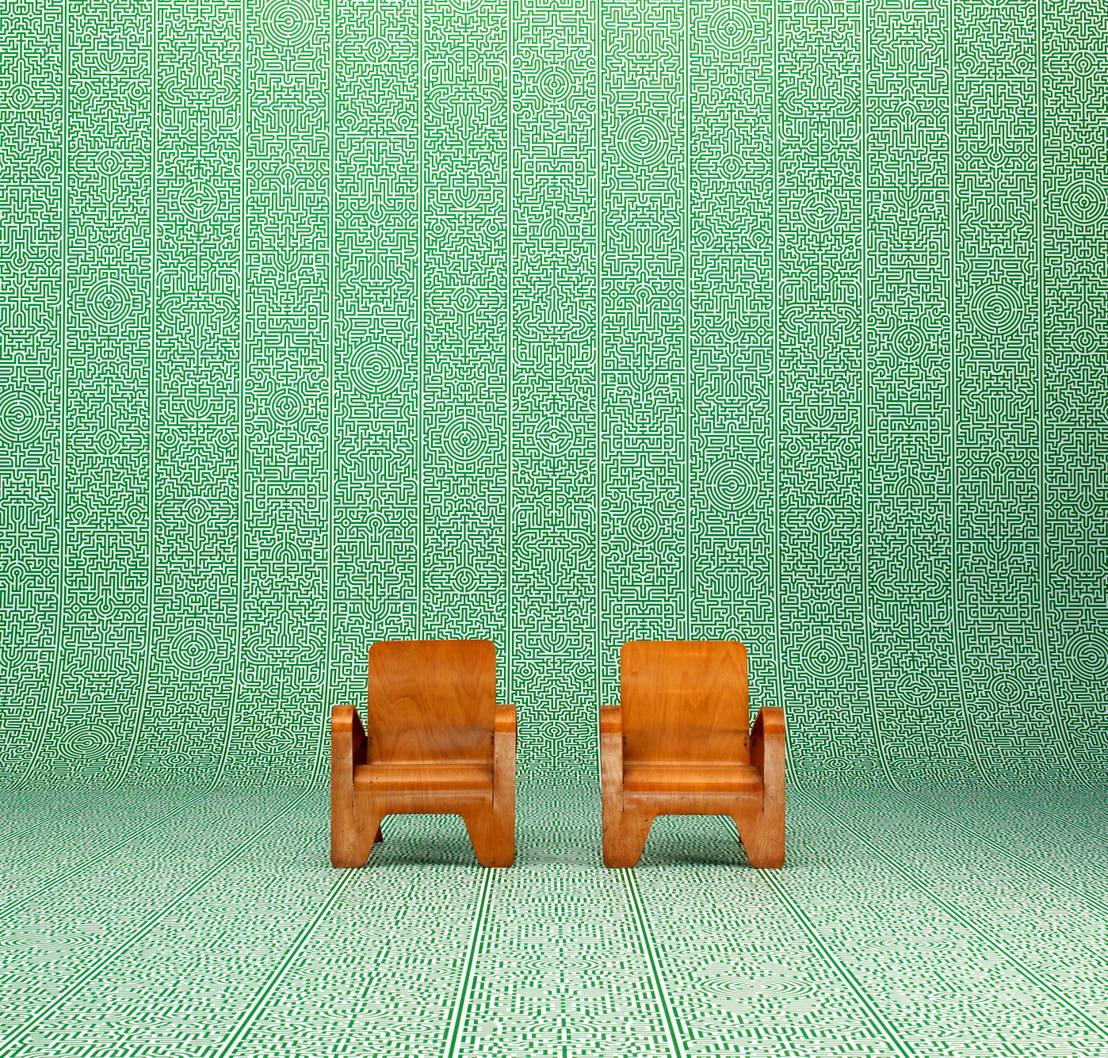 knallige tapeten. Black Bedroom Furniture Sets. Home Design Ideas