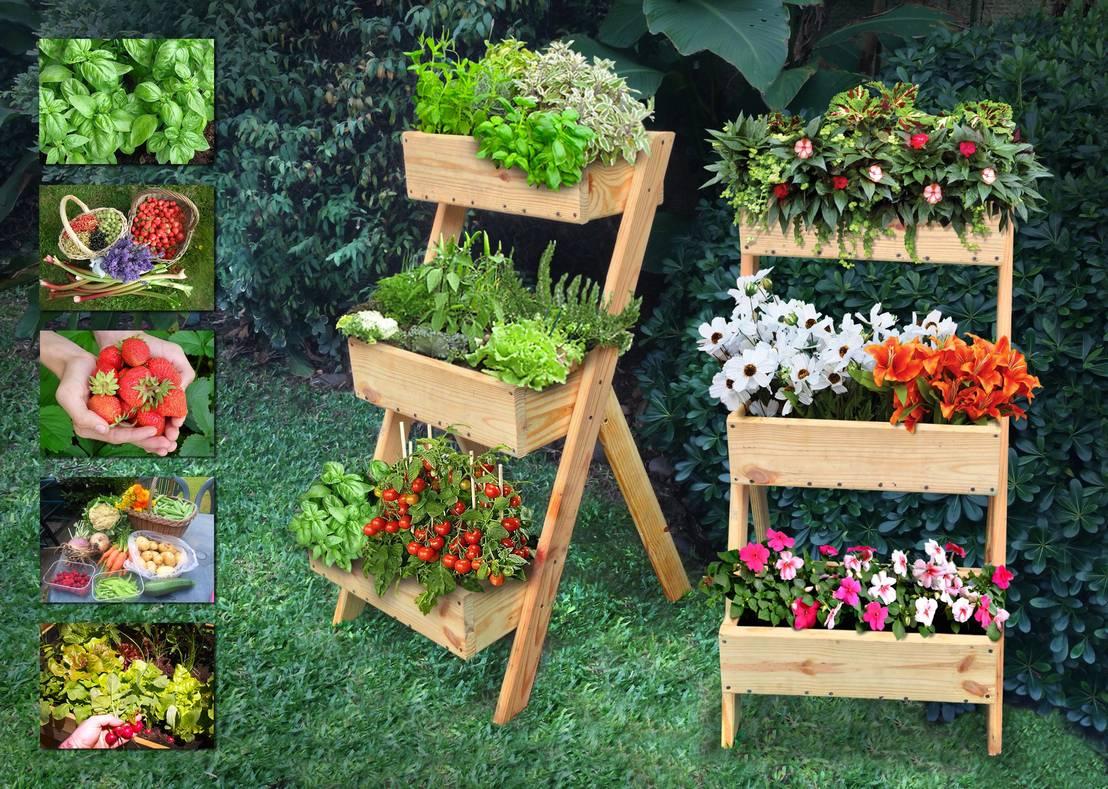 Jardineras con tarimas de madera h zlas tu mismo for Balancines de madera para jardin