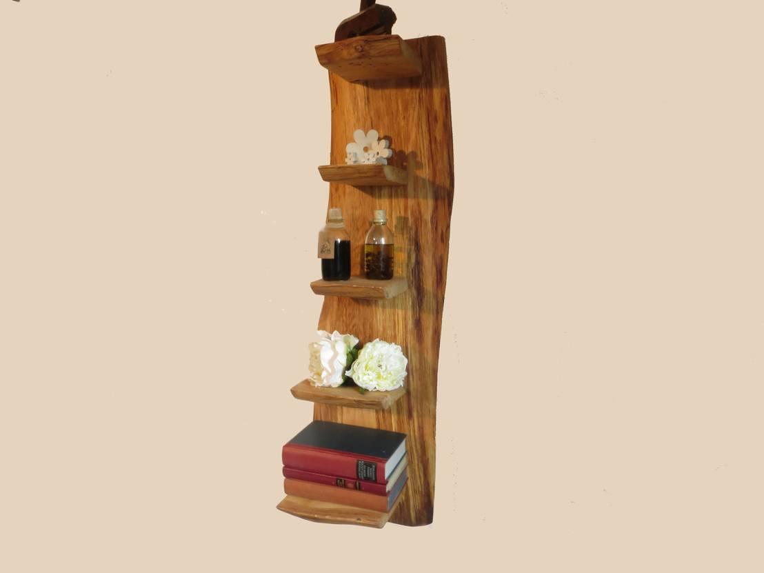uriges wohnzimmer:Uriges Wandregal von Schöner Wohnen mit Holz