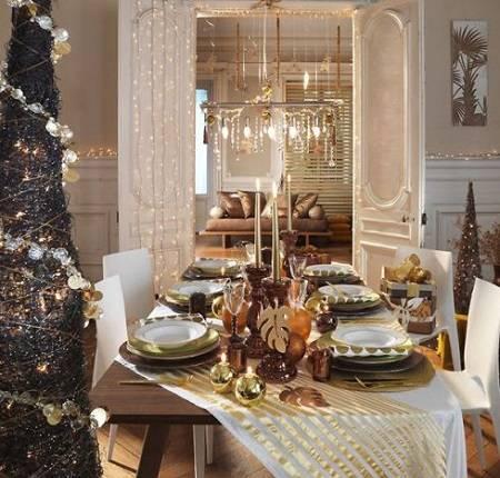 6 consejos para decorar el banquete de navidad - Mesa de navidad elegante ...