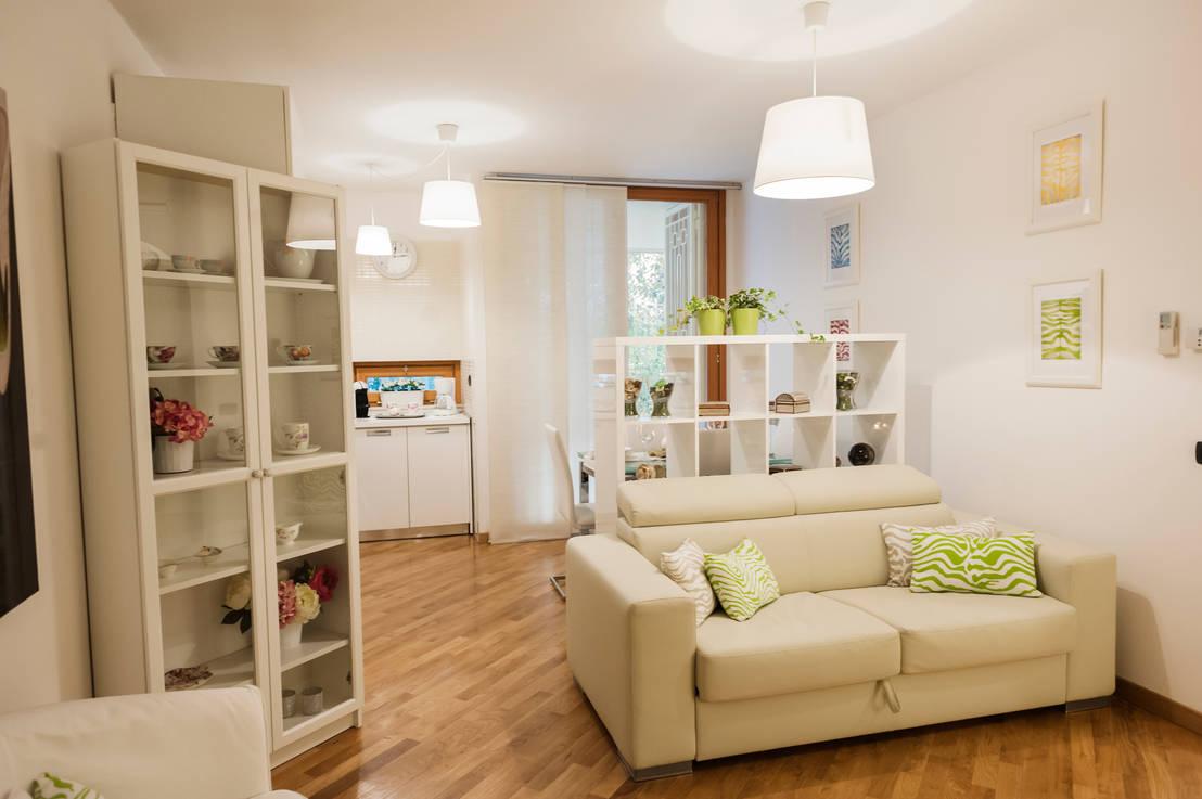 7 grandi idee per rendere il soggiorno accogliente - Idee per arredare soggiorno con angolo cottura ...