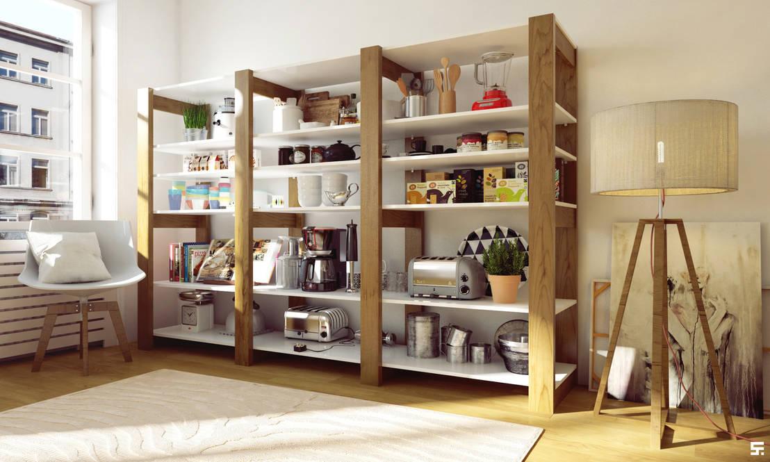 8 ideas para hacer tu propia estanter a for Mueble cocina 70