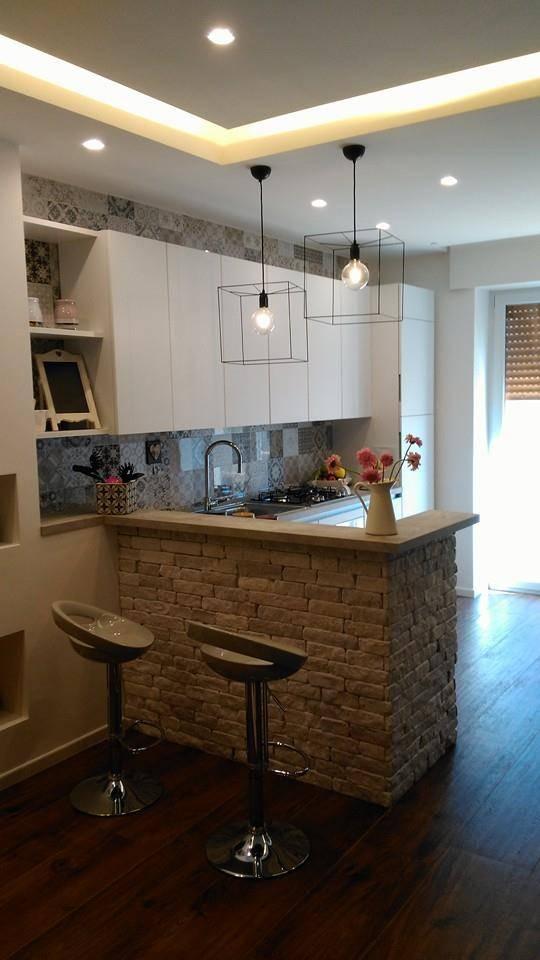6 foto di una cucina piccola ma moderna - Cucina piccola moderna ...