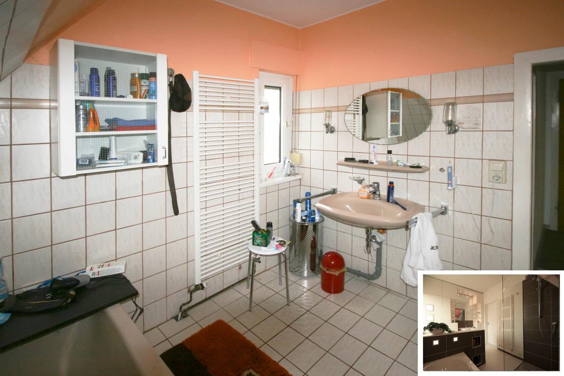 Vorher nachher ein altes bad wird aufgem belt for Innenarchitektur badezimmer