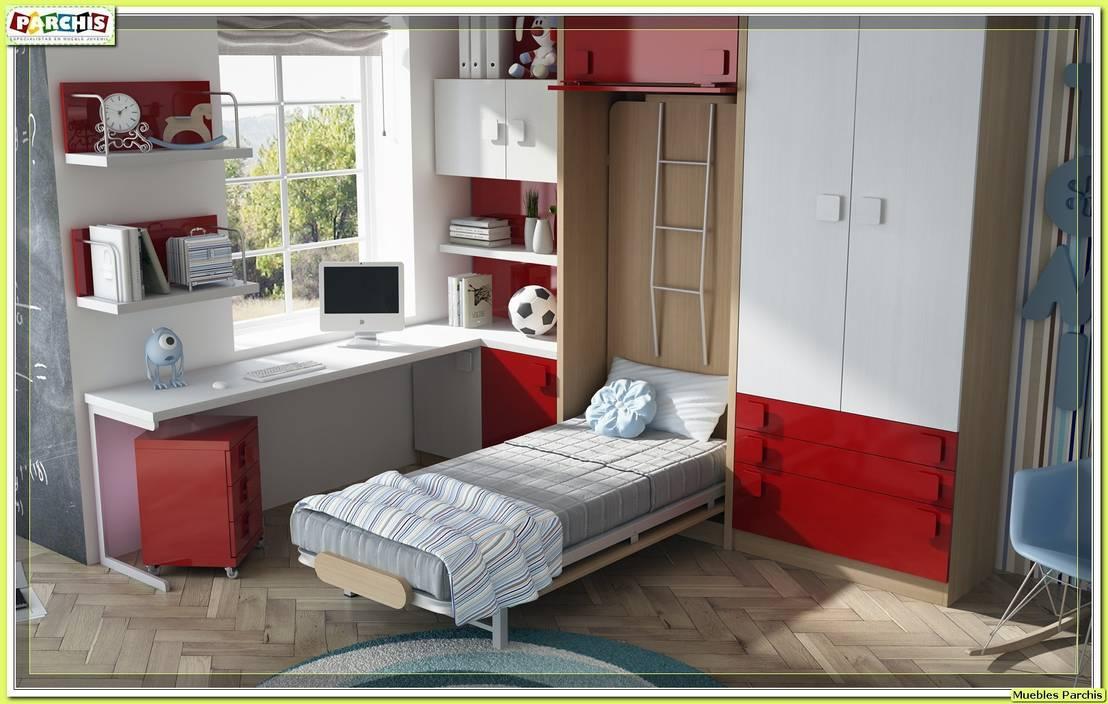Camas abatibles para paredes de pladur literas plegables for Muebles parchis