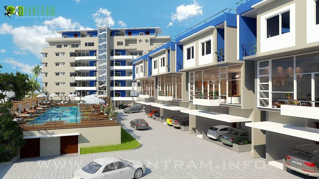 Yantramstudio yantram 3d rendering au en studio homify for Ruxxa design hotel 3