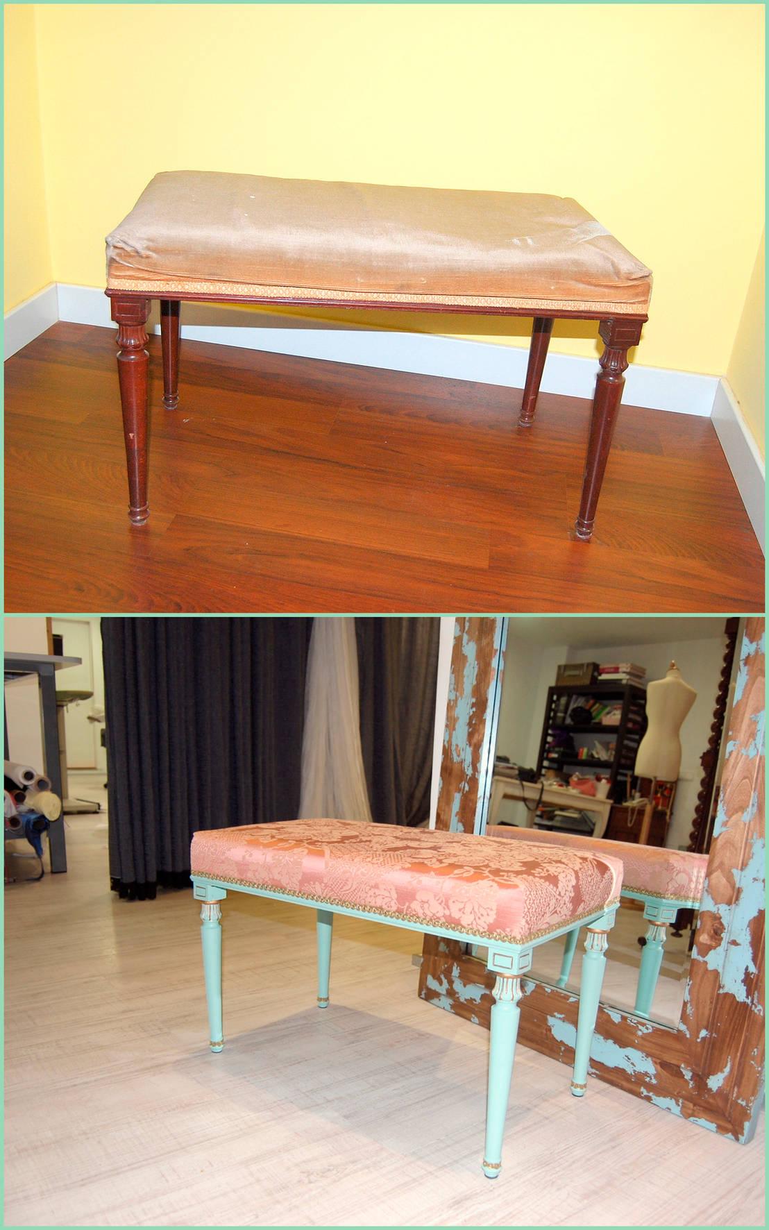 Tapicer As Antes Despu S Muebles Recuperados By Amarquimia De