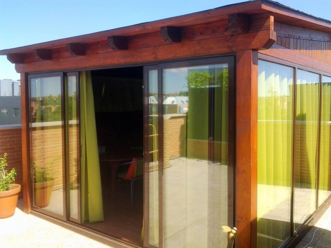 Cenadores de madera para jardin by exteriores de madera - Cenadores de madera ...