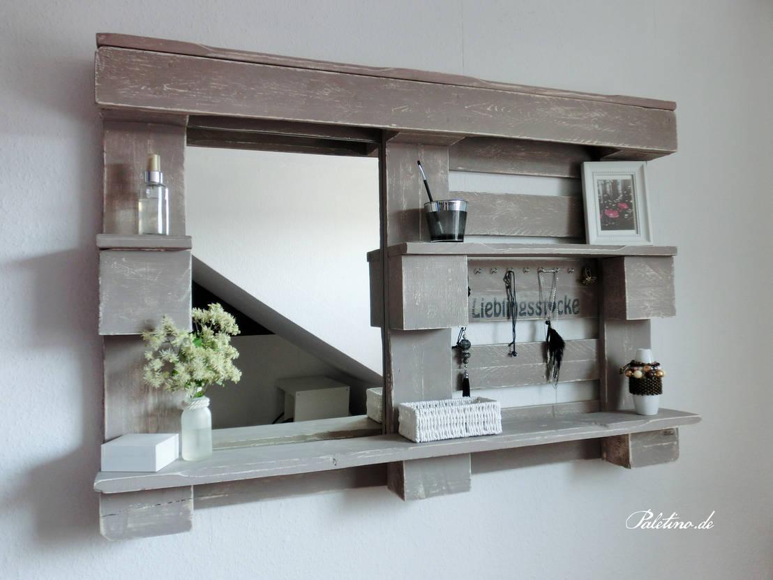 stylingwandregal mit spiegel von paletino homify. Black Bedroom Furniture Sets. Home Design Ideas