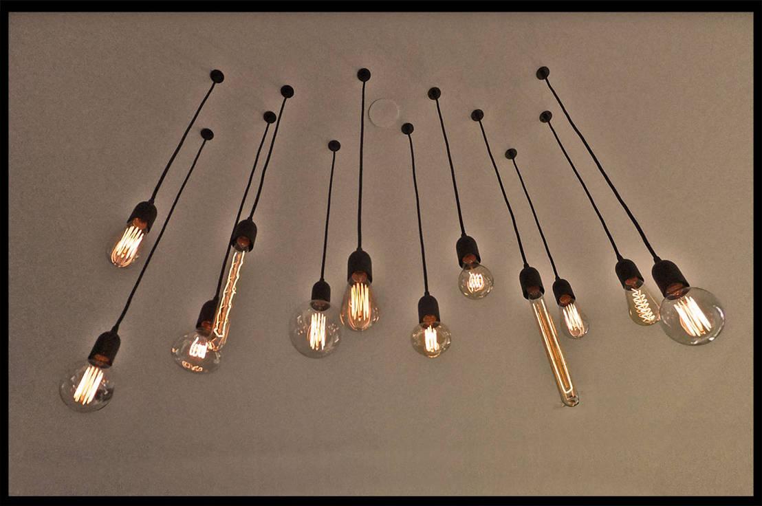 luminaire industriel sur mesure ampoule filament vintage. Black Bedroom Furniture Sets. Home Design Ideas