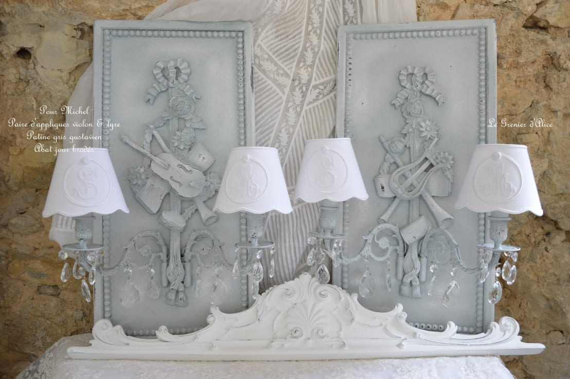 les appliques shabby chic et romantique par le grenier d 39 alice homify. Black Bedroom Furniture Sets. Home Design Ideas