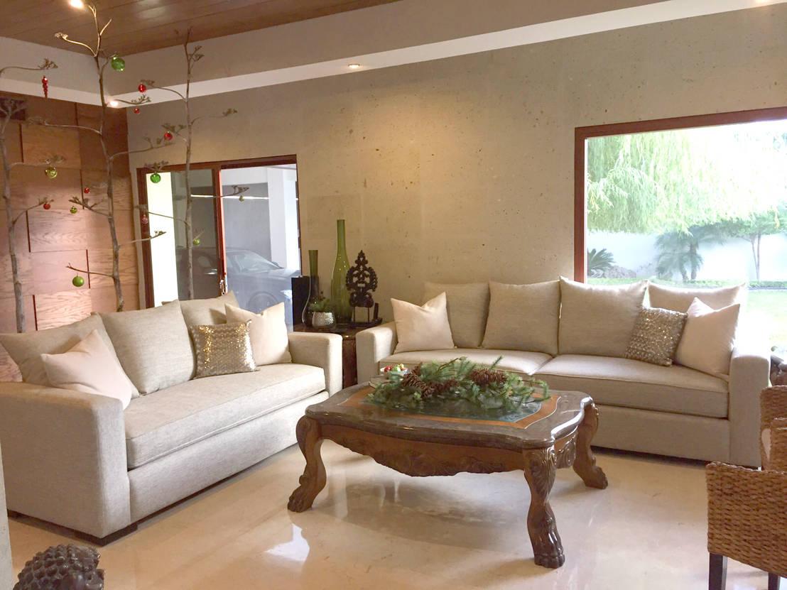 Beige para salas peque as de kauk muebles homify for Decasa muebles y decoracion
