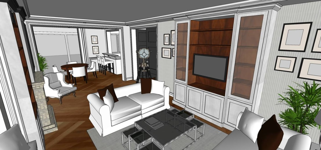 cottagehomeart est 2012 m belhaus interior design 3d stadthaus frankfurt homify. Black Bedroom Furniture Sets. Home Design Ideas