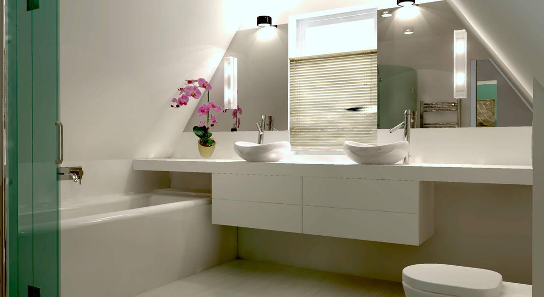 Herinrichting zolder met badkamer von stefania rastellino interior