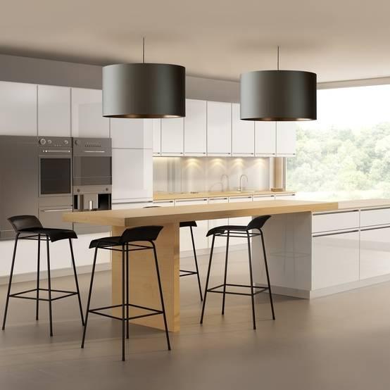 Mooie verlichting voor in de keuken en woonkamer - Woonkamer en moderne keuken ...